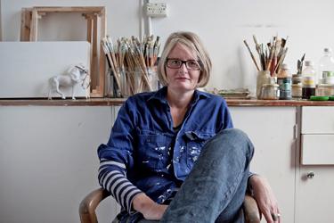 portrait of Madeleine Preston in an art studio