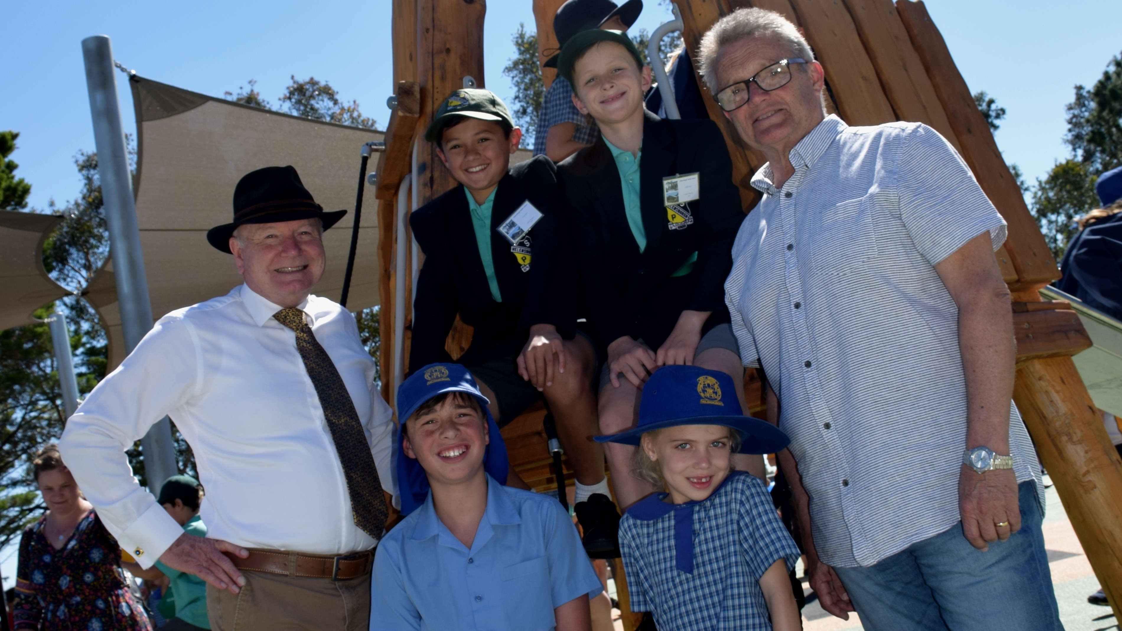 Students at Charles Harper Park play space opening