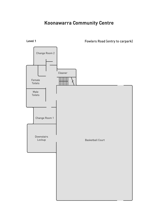 Koonawarra Community Centre Images Floorplan 1
