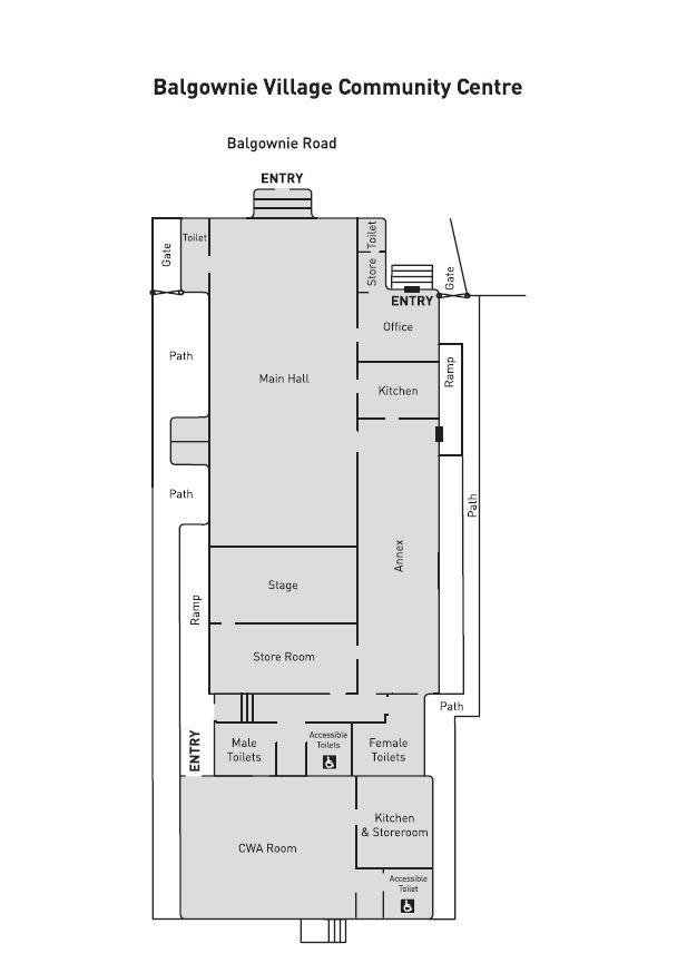 Floorplan for Balgownie Village Community Centre