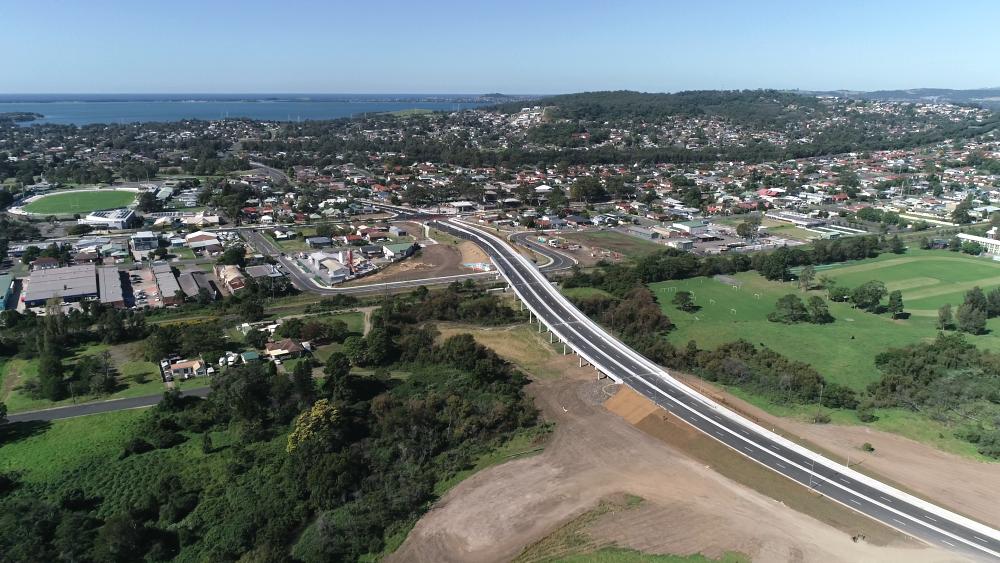 The new Fairwater to Fowlers Road link with Karrara bridge