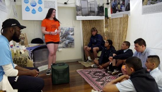 Students at Illawarra High School Refugee Challenge