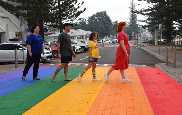 Rainbow Crossing at Wollongong North Beach