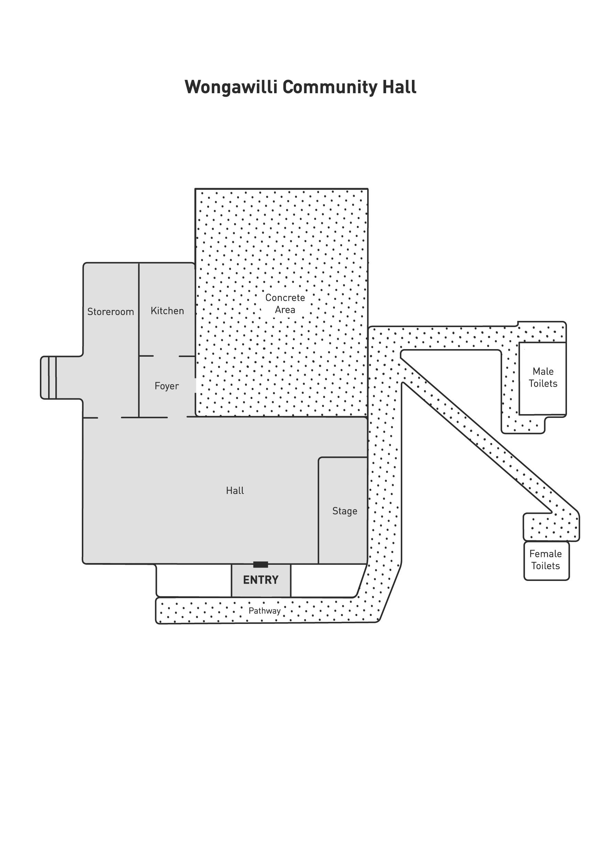 Wongawilli Community Hall Floorplan