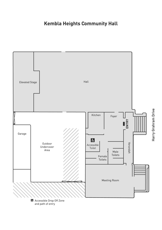 Kembla Heights Community Hall Floorplan
