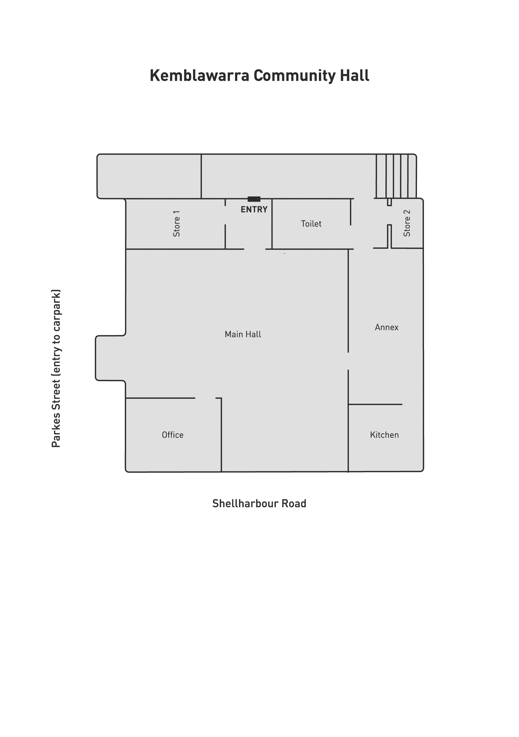 Kemblawarra Community Hall Floorplan