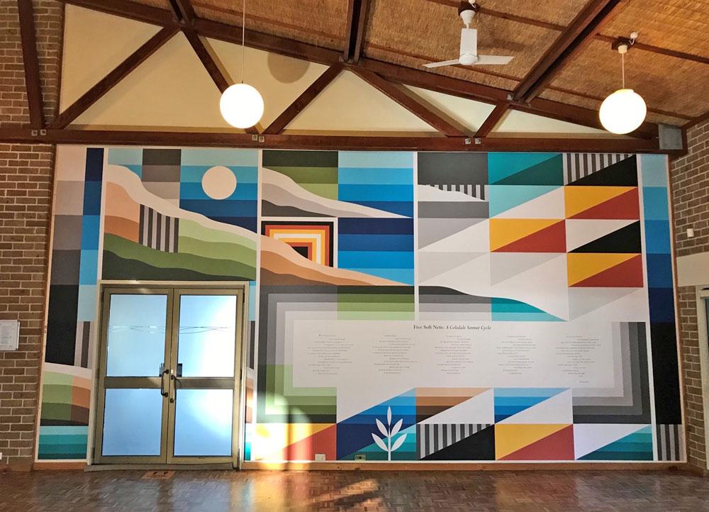 wall painted by Bradley Eastman, including poem