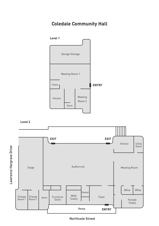 Coledale Community Hall Floorplan